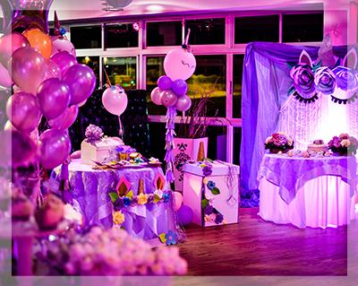 Decorazioni festa di compleanno in viola