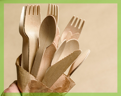 Posate ecologiche per free plastic party