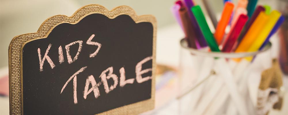 segnaposto tavolo per bambini