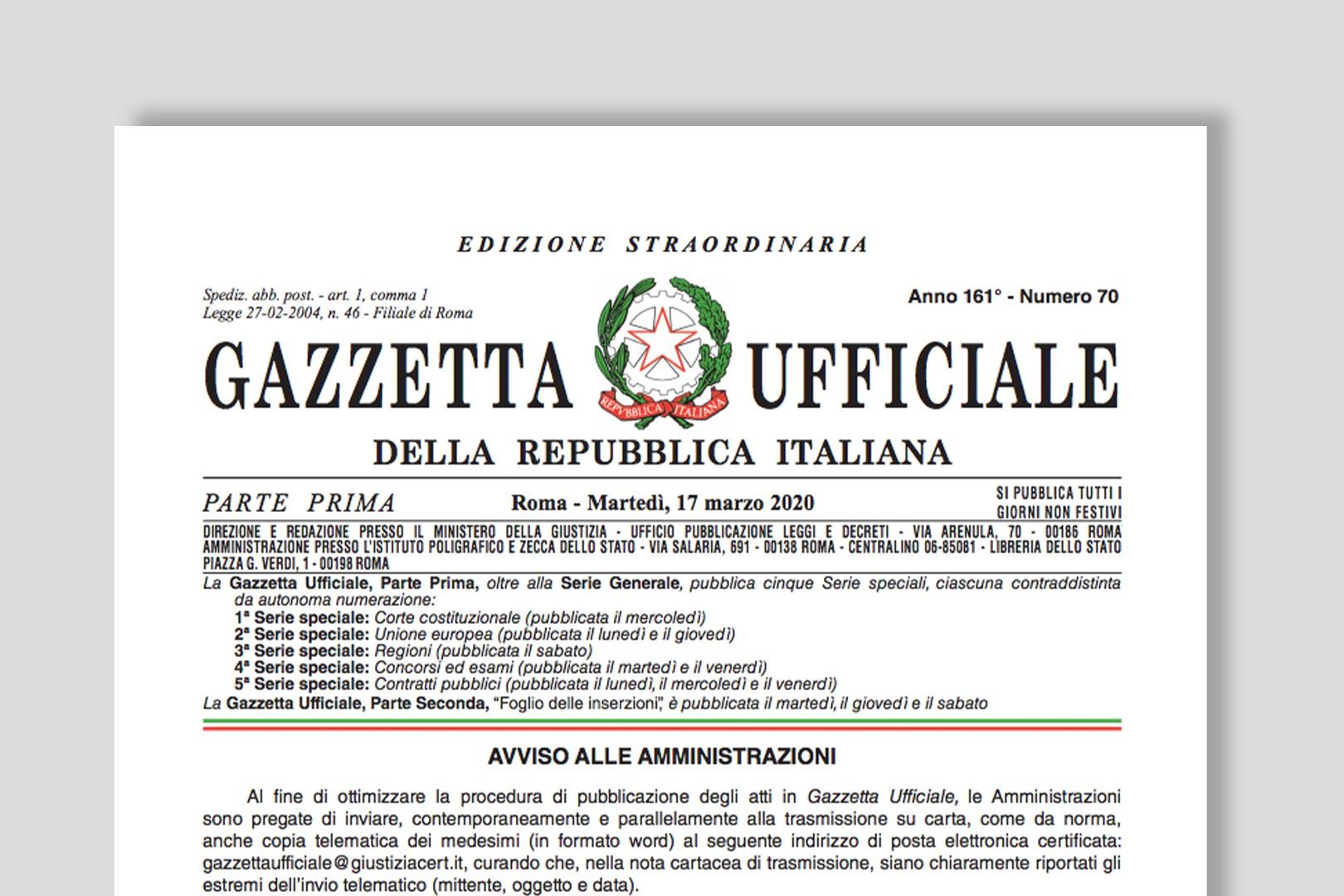 Documento Gazzetta Ufficiale